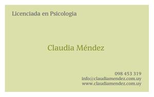 Psicologa Claudia Mendez